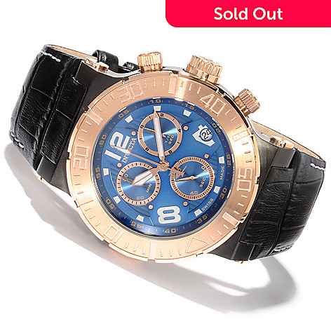 607-804 - Invicta Reserve Men's Ocean Reef Swiss Chronograph Leather Strap Watch