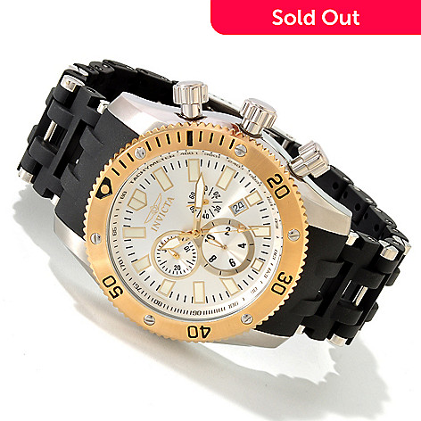 607-825 - Invicta Men's Sea Spider Scuba Quartz Chronograph Stainless Steel Bracelet Watch