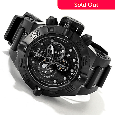 607-840 - Invicta Men's Subaqua Noma IV Combat Swiss Strap Watch w/ 8-Slot Dive Case