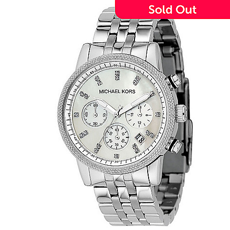 609-002 - Michael Kors Women's Quartz Chronograph Stainless Steel Bracelet Watch