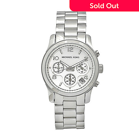 610-245 - Michael Kors Women's Classic Japanese Quartz Chronograph Mother-of-Pearl Dial Bracelet Watch