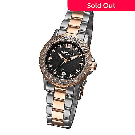 613-348 - Stührling Original Women's Regatta La Femma Quartz Stainless Steel Bracelet Watch