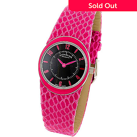 613-553 - Stührling Original Women's Lady Movida Swiss Quartz Leather Strap Watch