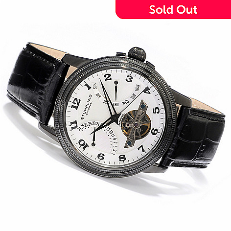 613-670 - Stuhrling Original Men's Saturnalia Automatic Strap Watch