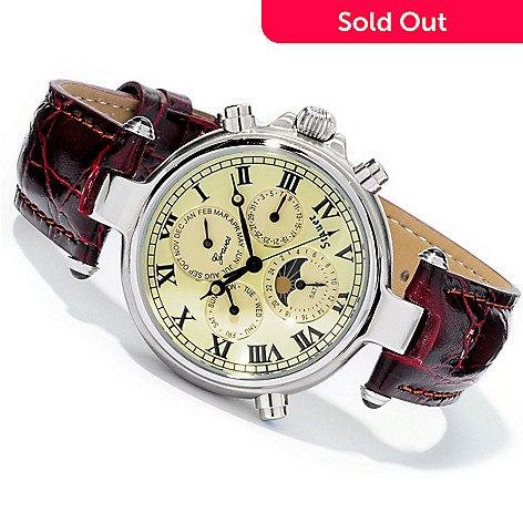 613-761 - Stauer Men's Graves '33 Automatic Stainless Steel Strap Watch