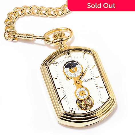 614-028 - Stauer Men's Grandfather Mechanical Pocket Watch