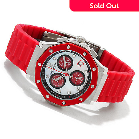 614-130 - Stührling Original Women's Cosmo Girl Quartz Chronograph Silicone Strap Watch