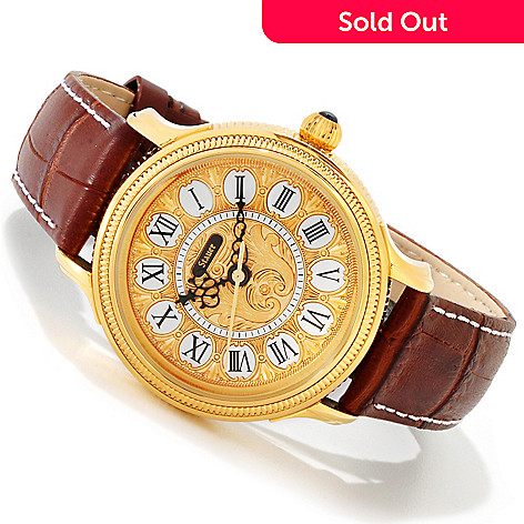614-139 - Stauer Men's 1860 Ormulo Quartz Movement Leather Strap Watch