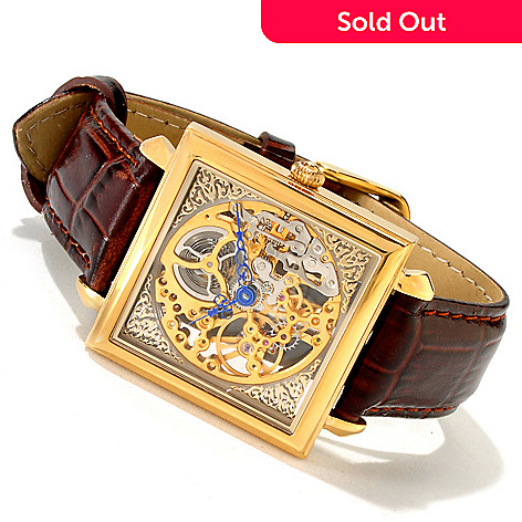 614-283 - Stauer Men's Machina Skeletonized Mechanical Strap Watch