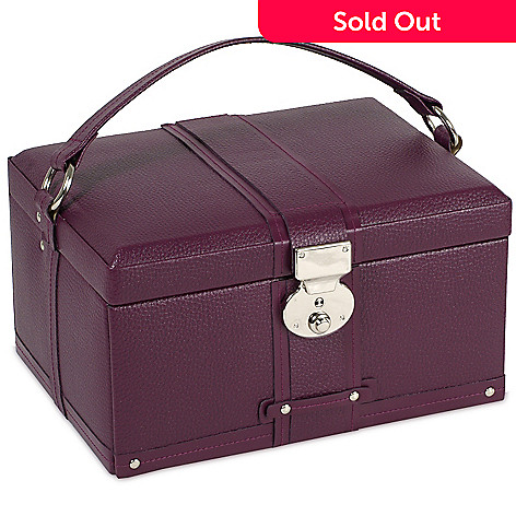 614-384 - WOLF Saint Tropez 7.50'' Pebbled Leather Jewelry Case