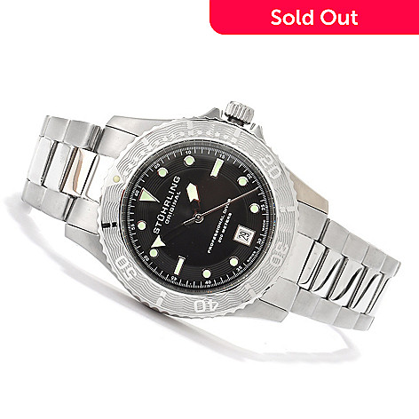 614-528 - Stührling Original Men's Regatta Sailor Swiss Made Quartz Stainless Steel Bracelet Watch