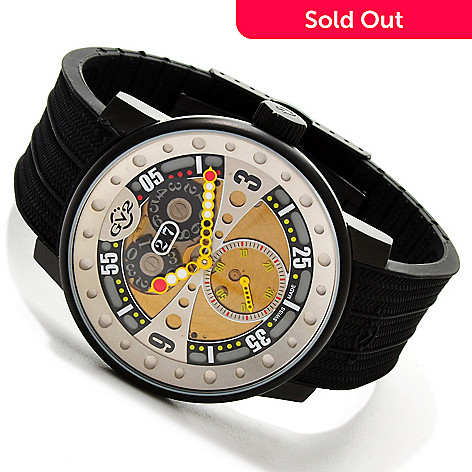 614-618 - GV2 By Gevril 45mm Powerball Limited Edition Swiss Made Quartz Strap Watch