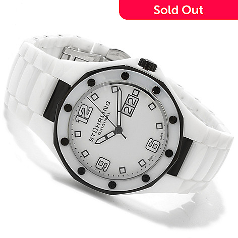 614-620 - Stührling Original Men's or Women's Apocalypse Swiss Made Quartz Ceramic Bracelet Watch