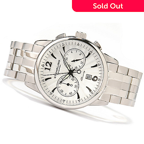 615-003 - Stührling Original Men's Elite Chronograph Stainless Steel Watch