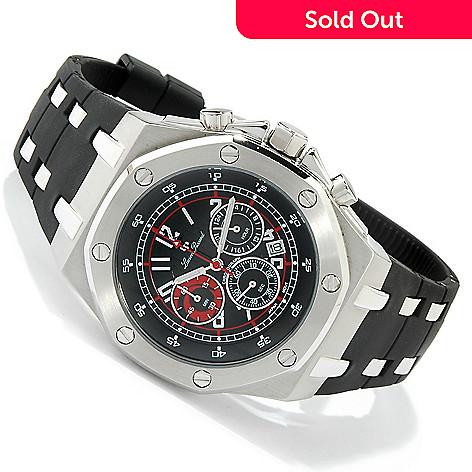 lucien piccard men s el capitan chronograph rubber strap watch