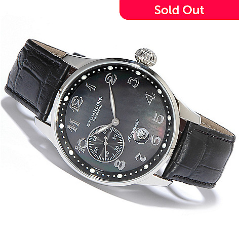 615-558 - Stührling Original Men's Grand Automatic Leather Strap Watch