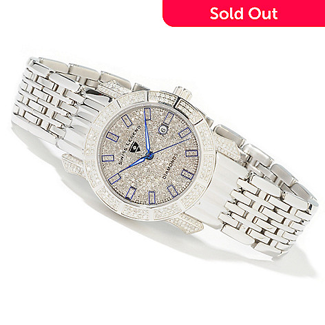 616-013 - Swiss Legend Women's Marquis Diamond Stainless Steel Bracelet Watch