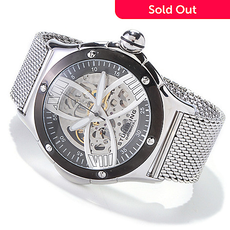 616-074 - Stuhrling Original Men's Alpine Slalom Skeleton Automatic Watch
