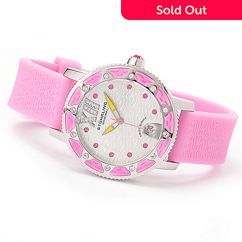 616-264 - Stührling Original Women's Lady Marina Strap Watch Made w/ Swarovski® Elements