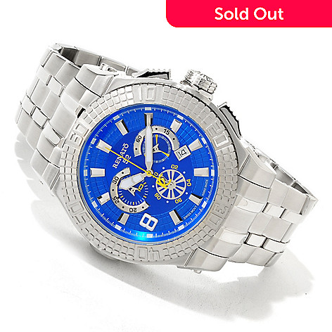 616-330 - Renato Men's Buzo 52 Swiss Quartz Chronograph Stainless Steel Bracelet Watch