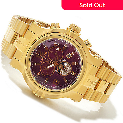 616-333 - Renato Men's T-Rex Limited Edition Swiss Quartz Moon Phase Chronograph Bracelet Watch