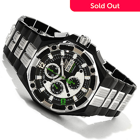 616-339 - Renato Men's Mostro Limited Edition Swiss Valjoux 7750 Automatic Chronograph Bracelet Watch