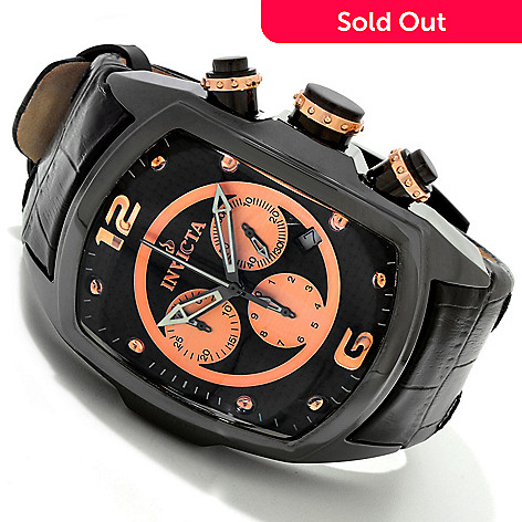 616-527 - Invicta Men's Lupah Revolution Limited Edition Quartz Chronograph Leather Strap Watch