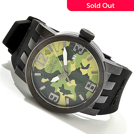 616-531 - Invicta Men's DNA Camouflage Dial Stainless Steel Case Silicone Strap Watch