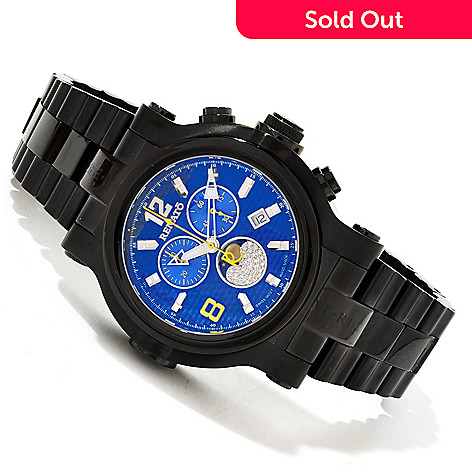 616-676 - Renato Men's T-Rex Limited Edition Swiss Quartz Chronograph Moon Phase Bracelet Watch
