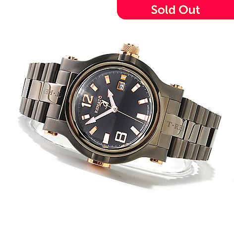 616-683 - Renato 50mm T-Rex Swiss Quartz Stainless Steel Bracelet Watch