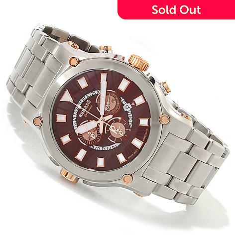 616-687 - Renato 50mm Calibre Robusta Swiss Quartz Chronograph Stainless Steel Bracelet Watch