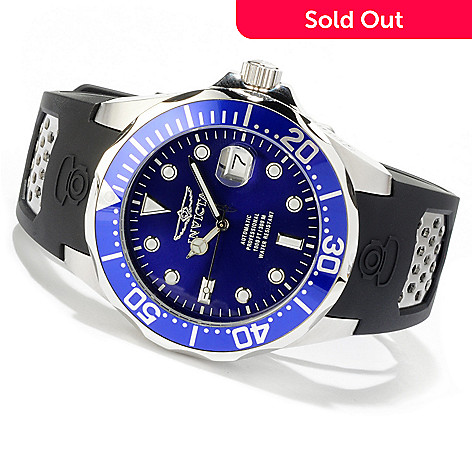 616-695 - Invicta 47mm Grand Diver Automatic Stainless Steel Polyurethane Strap Watch