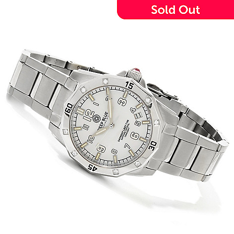 616-726 - Deep Blue Women's Lady Blue DAYNIGHT T100 Swiss Quartz Mother-of-Pearl Dial Bracelet Watch