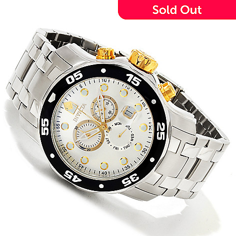 616-785 - Invicta 48mm Pro Diver Scuba Quartz Chronograph Stainless Steel Bracelet Watch