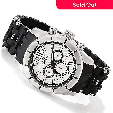616-790 - Invicta Men's Sea Spider Quartz Chronograph Polyurethane & Stainless Steel Bracelet Watch