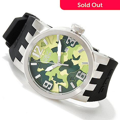 616-794 - Invicta Men's DNA Quartz Camouflage Dial Stainless Steel Case Silicone Strap Watch