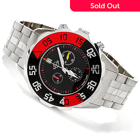 616-808 - GV2 by Gevril Men's Parachute Swiss Made Limited Edition Quartz Chronograph Bracelet Watch