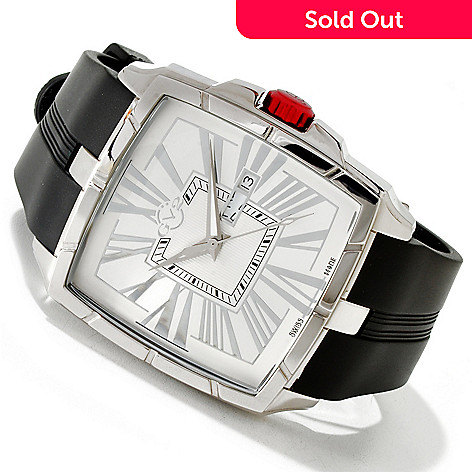 616-812 - GV2 by Gevril Men's Fiamme Limited Edition Swiss Made Quartz Rubber Strap Watch