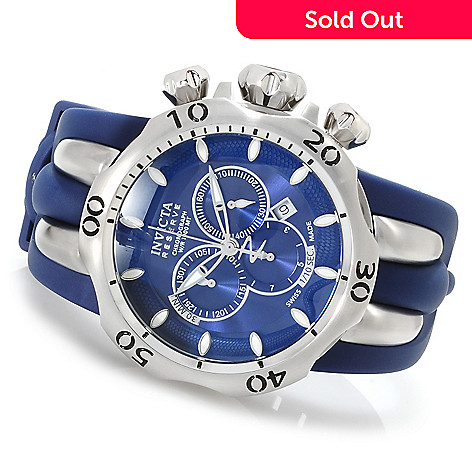 617-088 - Invicta Reserve Men's Venom Fang Swiss Quartz Chronograph Stainless Steel Polyurethane Strap Watch