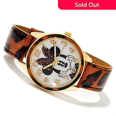 617-142 - Disney Women's Quartz Animal Print Strap Watch