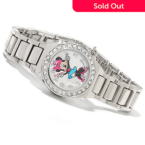 617-148 - Disney Women's Quartz Bracelet Watch w/ Interchanging Bezels