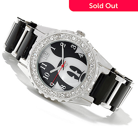617-154 - Disney Women's Peek-a-Boo Mickey Quartz Acrylic Bracelet Watch