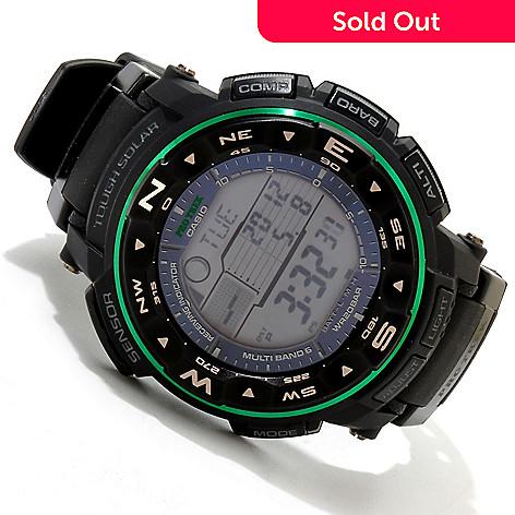 617-157 - Casio 54mm ProTrek Quartz Atomic Solar Ana-Digi Rubber Strap Watch