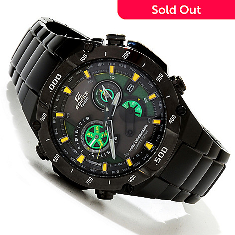 617-158 - Casio Men's Edifice Quartz Chronograph Solar Atomic Bracelet Watch