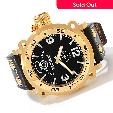 617-166 - Invicta Men's Russian Diver Signature II Quartz Leather Strap Watch