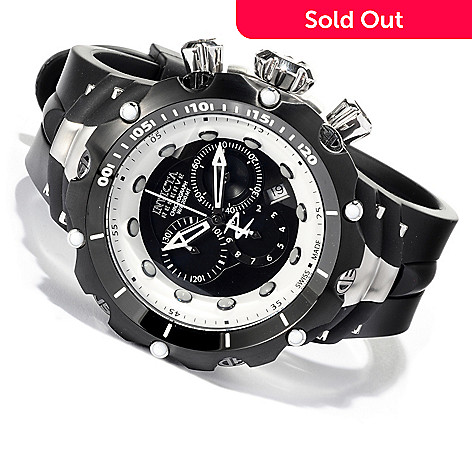 617-180 - Invicta Reserve Men's Venom II Swiss Made Quartz Chronograph Rubber Strap Watch