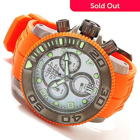 617-181 - Invicta Men's Pro Diver Sea Hunter Swiss Quartz Chronograph Polyurethane Strap Watch