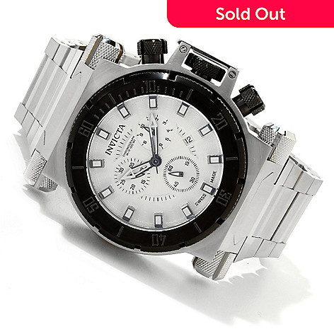 617-259 - Invicta Men's Coalition Forces Swiss Quartz Chronograph Stainless Steel Bracelet Watch