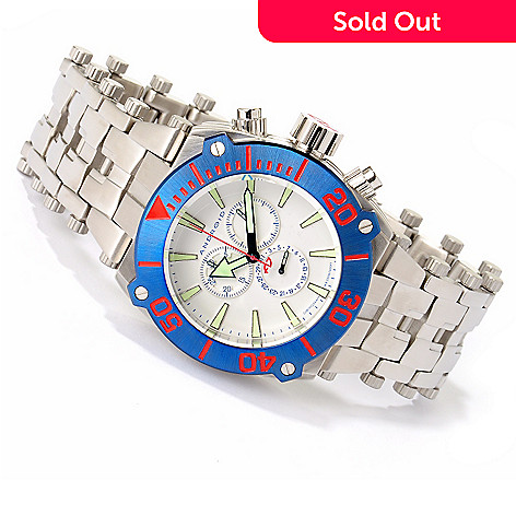 617-274 - Android Men's Millipede Quartz Chronograph Stainless Steel Bracelet Watch
