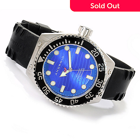 617-286 - Android Men's Divemaster Espionage 2 Automatic Stainless Steel Rubber Strap Watch